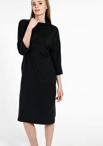 Czarna sukienka Unisono midi