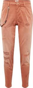 Pomarańczowe spodnie Jack & Jones z bawełny