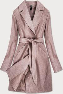 Różowy płaszcz Goodlookin.pl w stylu casual