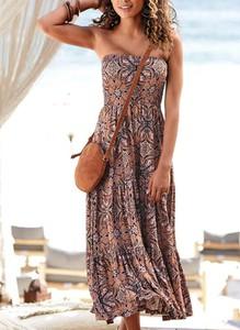 Sukienka Cikelly hiszpanka maxi na ramiączkach