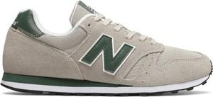 Buty sportowe New Balance z zamszu w młodzieżowym stylu sznurowane