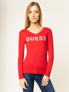 Czerwony sweter Guess
