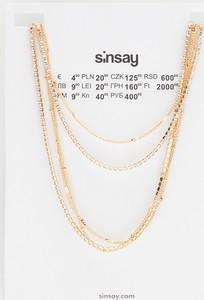 Sinsay - Naszyjnik z cyrkoniami - Złoty