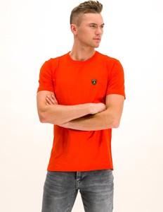 Czerwony t-shirt Lamborghini z krótkim rękawem