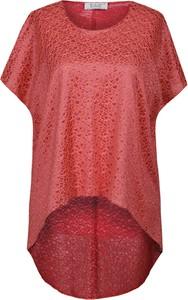 Czerwona tunika Fokus z szyfonu w stylu casual