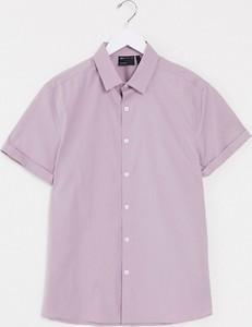 Fioletowa koszula Asos z krótkim rękawem
