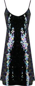 Sukienka DKNY z dekoltem w kształcie litery v na ramiączkach mini