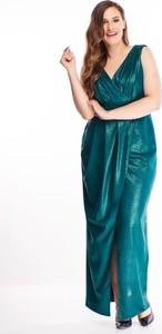 Sukienka N/A na ramiączkach z dekoltem w kształcie litery v dla puszystych