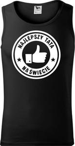 Czarny t-shirt TopKoszulki.pl z krótkim rękawem w młodzieżowym stylu