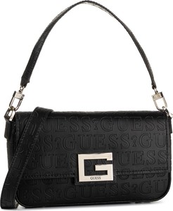 Czarna torebka Guess z aplikacjami mała z tłoczeniem
