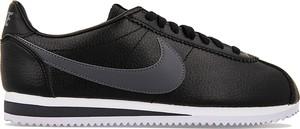 Czarne buty sportowe Nike sznurowane cortez