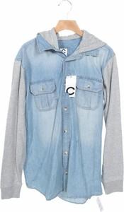 Niebieska koszula dziecięca Cubus dla chłopców z jeansu