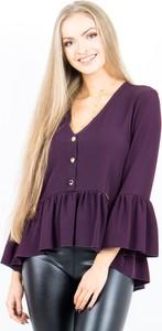 Fioletowa bluzka Mielczarkowski z długim rękawem