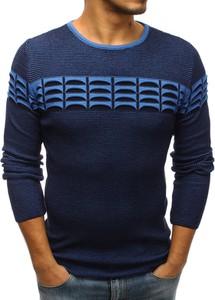 Niebieski sweter Dstreet z bawełny w młodzieżowym stylu