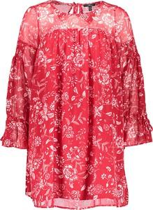Czerwona sukienka Mavi z długim rękawem