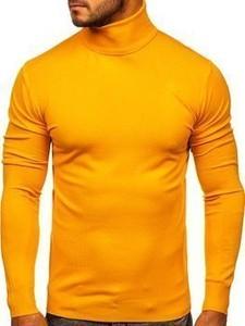 Żółty sweter Denley w stylu casual