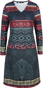 Sukienka bonprix mini z dżerseju z długim rękawem