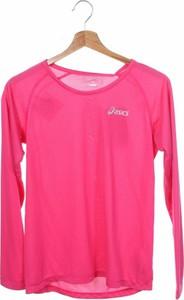 Różowa bluzka dziecięca ASICS z długim rękawem
