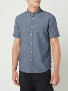 Granatowa koszula Esprit z krótkim rękawem z kołnierzykiem button down