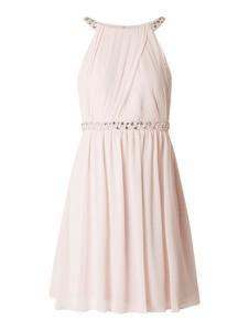 Różowa sukienka Jake*s Cocktail z dekoltem halter