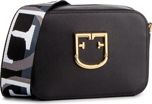Czarna torebka Furla na ramię średnia w młodzieżowym stylu