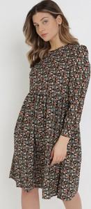 Sukienka born2be z okrągłym dekoltem w stylu casual mini