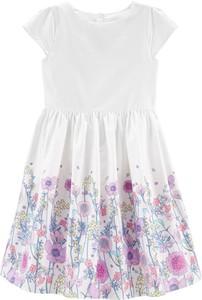 Sukienka dziewczęca OshKosh w kwiatki z bawełny