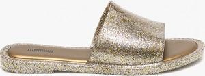 Złote klapki Melissa