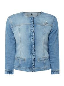 Kurtka Liu-Jo krótka w stylu casual z jeansu