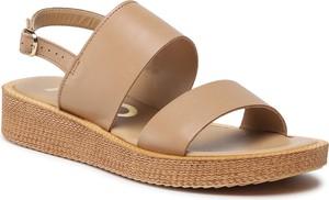 Sandały Ryłko w stylu casual ze skóry z klamrami