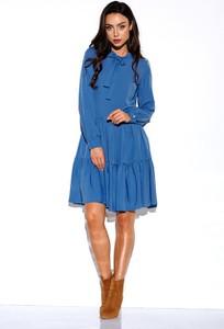 Niebieska sukienka Lemoniade mini rozkloszowana