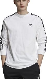 T-shirt Adidas z długim rękawem z bawełny