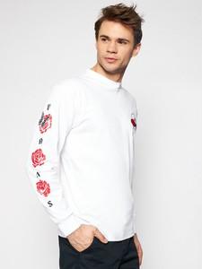 Koszulka z długim rękawem Vans z bawełny