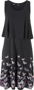 Sukienka bonprix bpc bonprix collection z dżerseju z okrągłym dekoltem midi