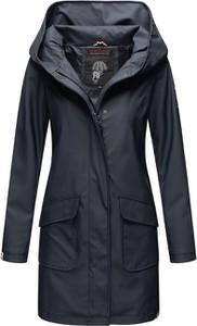 Granatowy płaszcz Marikoo w stylu casual