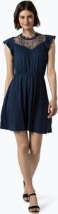 Niebieska sukienka Only z dżerseju z okrągłym dekoltem bez rękawów