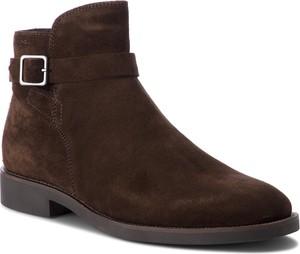 Brązowe buty zimowe Vagabond ze skóry w stylu casual