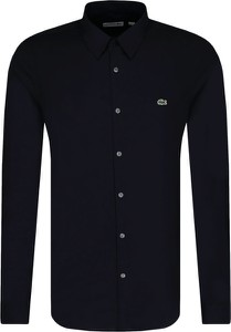 Czarna koszula Lacoste z długim rękawem