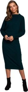 Zielona sukienka Style midi w stylu casual