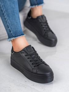 Czarne buty sportowe Czasnabuty sznurowane