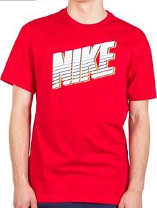 T-shirt Nike z nadrukiem z bawełny z krótkim rękawem
