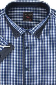 Koszula Laviino w stylu casual z klasycznym kołnierzykiem z długim rękawem