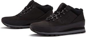 Czarne buty zimowe Lee Cooper ze skóry sznurowane