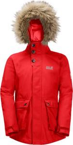 Czerwona kurtka dziecięca Jack Wolfskin