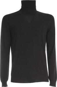 Czarny sweter Zanone w stylu casual