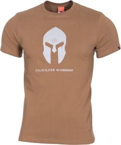Brązowy t-shirt Pentagon z nadrukiem z bawełny w młodzieżowym stylu