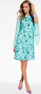 Sukienka L'AF rozkloszowana midi z okrągłym dekoltem