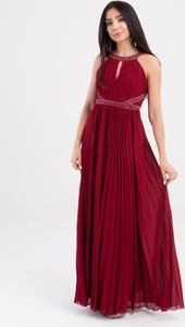 Czerwona sukienka Butik Ecru bez rękawów maxi