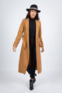 Brązowy płaszcz Le Comptoir Du Manteau w stylu casual
