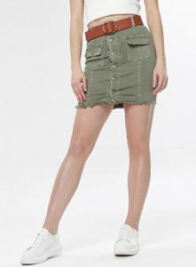 Zielona spódnica born2be w militarnym stylu